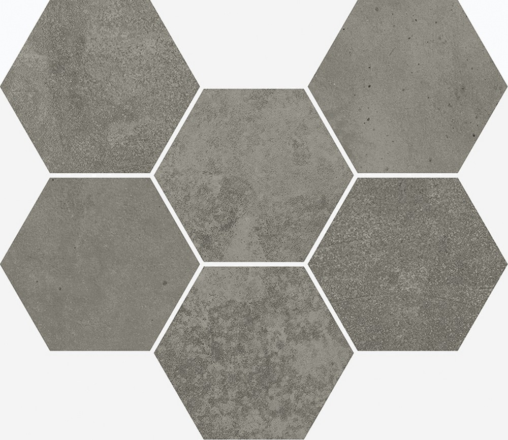 Мозаика terraviva dark mosaico hexagon 25x29
